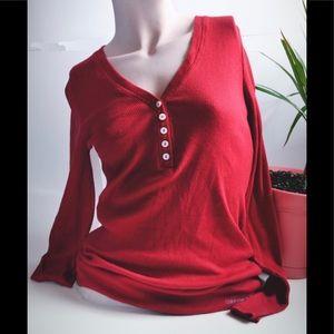 Calvin Klein Jeans Red Rib Longsleeve